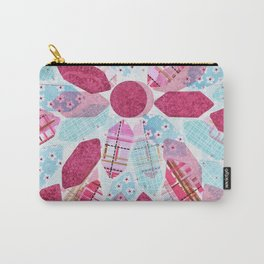 Patchwork-Collage Love Carry-All Pouch