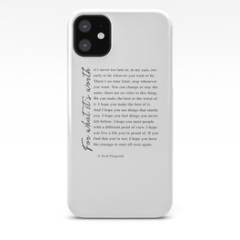F. Scott Fitzgerald - For What It's Worth Quote  iPhone Case