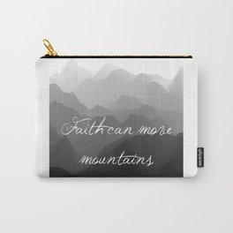 Faith Can Move Mountains Religious Bible Verse Art - Matthew 17:20 Carry-All Pouch