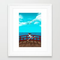 spirited away Framed Art Prints featuring Spirited Away by IllustrateKate