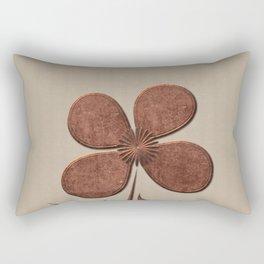 Cute Copper Flower Linen Canvas Rectangular Pillow