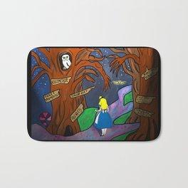 Alice in Wonderland in the Forbidden Forest Bath Mat
