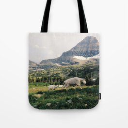 Montana Mountain Goat Family Tote Bag