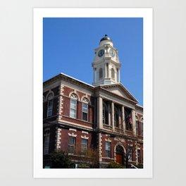 Irvington Town Hall, Irvington NY Art Print