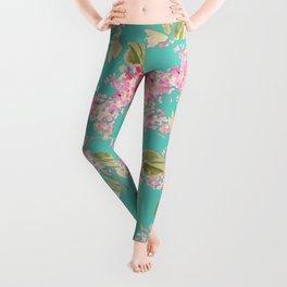 pink lilacs Leggings