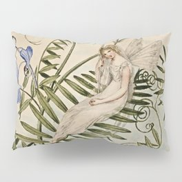 """Fairy Resting Among Flowers"" by Amelia Jane Murray Pillow Sham"