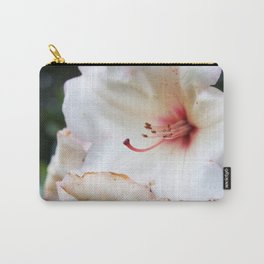 White Delicate Flower2 Carry-All Pouch