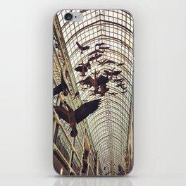 bird christmas shopping iPhone Skin