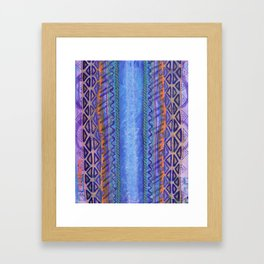 Blue Conduit Vertical Framed Art Print