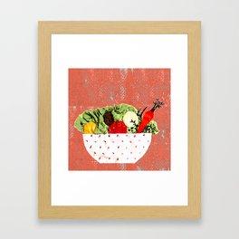 Spring bowl Framed Art Print
