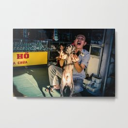 Puppy in Dong Hoi Metal Print