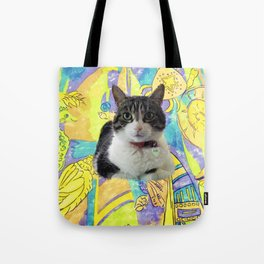 Zoe In Feline Seafare Delight Tote Bag