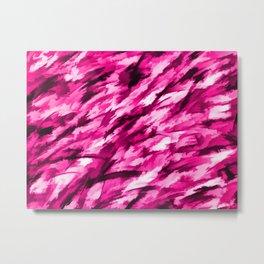 Hot Pink Designer Camo Metal Print