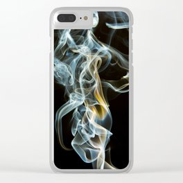 Smoke Design Art Clear iPhone Case