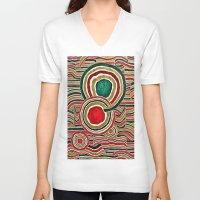 family V-neck T-shirts featuring Family by Yukska