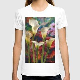 Ivory Color Calla Lilies Garden Art T-shirt