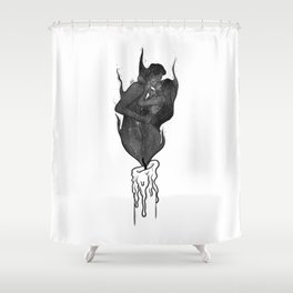 Twin flames. Shower Curtain