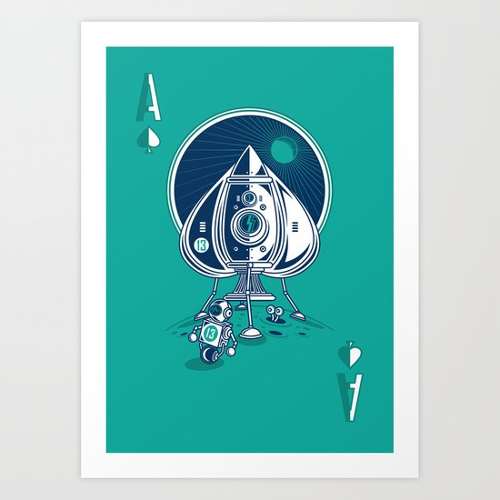Ace of Spaces Art Print