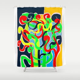 Delirious crowd Shower Curtain