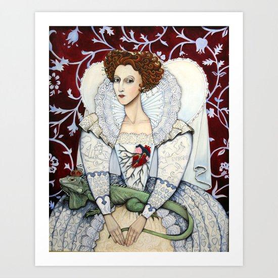 Elizabeth, the Virgin Queen, Queen of Hearts Art Print
