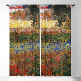 Garden in Bloom, Arles, Vincent van Gogh Blackout Curtain