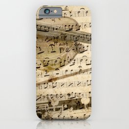 Violin and clarinet musical note background iPhone Case