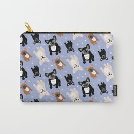 Blue French Bulldogs Frenchies Pattern Carry-All Pouch