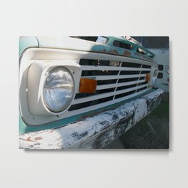 Rusty Ford Grille Metal Print