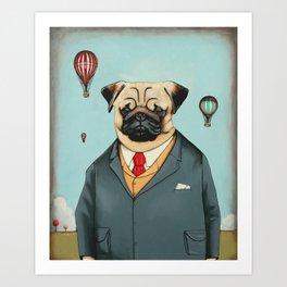 Mr Dog Steampunk Art Print