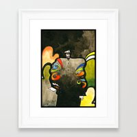 captain Framed Art Prints featuring Captain by Ecsentrik
