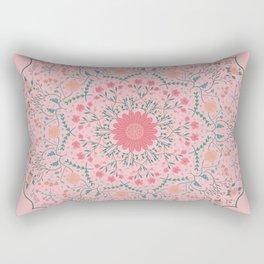 Flower Rounds Mandala Rectangular Pillow