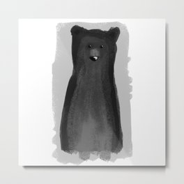 B for Bear Metal Print