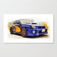 subaru Canvas Prints featuring Subaru WRX STI (555) by Urbex :: Siam