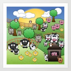 Down On Dingle Dopple Farm Art Print
