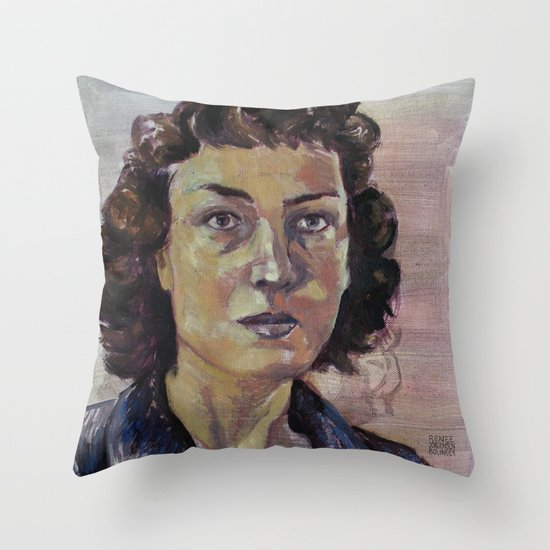 Philippa Foot Throw Pillow