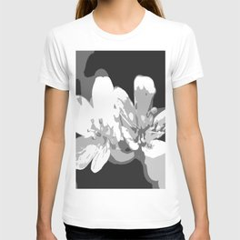 Retro Flowers in Black and White #decor #society6 T-shirt