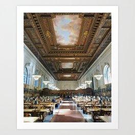 New York Public Library Art Print