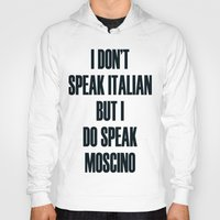 moschino Hoodies featuring Moschino by cvrcak