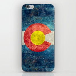 Colorado State flag, Vintage retro style iPhone Skin