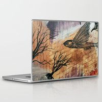 literary Laptop & iPad Skins featuring Literary Flying Fish by Sarah Sutherland