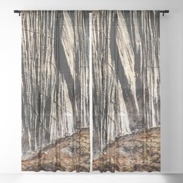 tree bark and wood Sheer Curtain