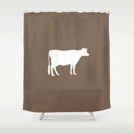 Cow: Brown Shower Curtain