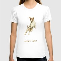 jack russell T-shirts featuring Jack Russell by Katherine Coulton