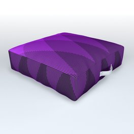 Purple to Black Ombre Signal Outdoor Floor Cushion