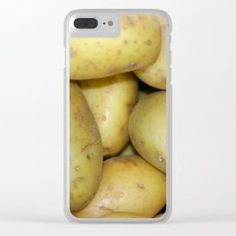 Potatoes Clear iPhone Case