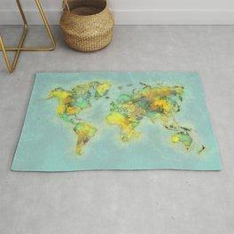 world map 112 #worldmap #world #map Rug
