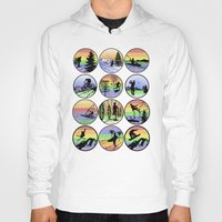 sports Hoodies featuring Outdoor sports by Paul Simms