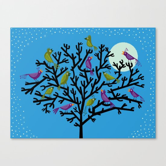 The Night Birds Canvas Print