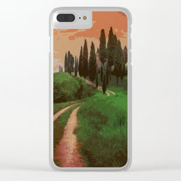 Tuscany, fairy landscape Clear iPhone Case