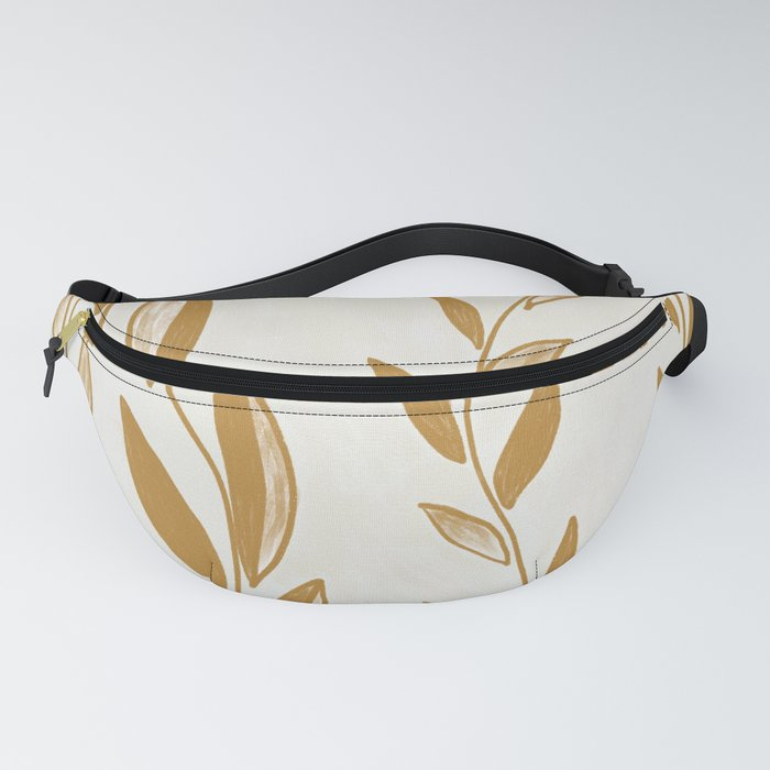 Golden leaves and stems Fanny Pack
